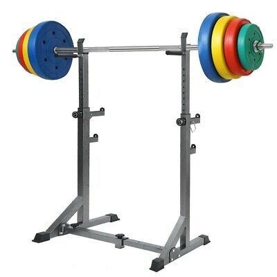 $ CDN143.41 • Buy Adjustable Squat Rack Barbell Lifting Stand Dip Station Bench Press Home Fitness