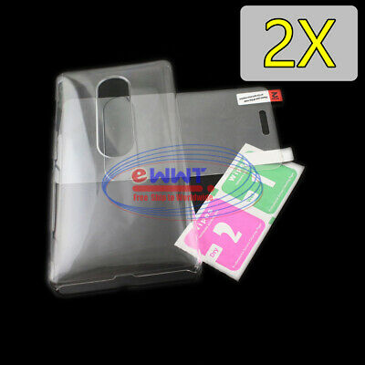 AU8.94 • Buy FREE SHIP 2x For Sony Xperia XZ2-Premium Clear Crystal Cover Case +Glass WQCF859