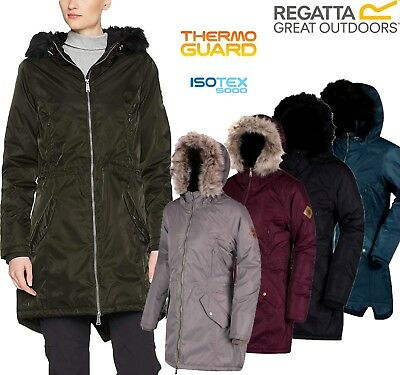 £27.99 • Buy Regatta Ladies Lucetta Insulated Waterproof Breathable Womens Long Jacket Coat