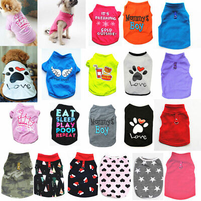 Pet Dog Vest T-shirt Puppy Cat Small Dog Clothes Harness Leash Pug Coat Jacket.. • 3.73£