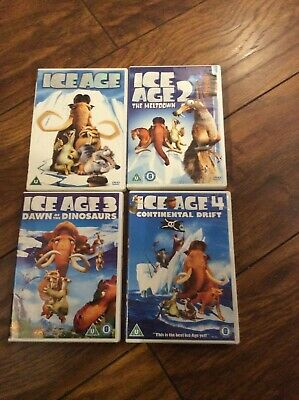 Ice Age  Ice Age 2 Ice Age 3 And Ice Age 4 - Four Dvds • 2.50£