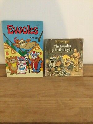 $ CDN1.75 • Buy 2 Vintage Star Wars Ewok Books 1989 Annual & Ewoks Join The Fight  Book ROTJ
