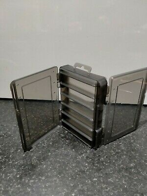Double Sided Fishing Tackle Box 12 Compartments Bait Lure Hook Box Storage Case • 5.99£