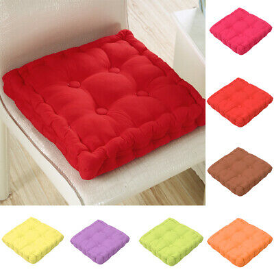 AU24.69 • Buy Square Chair Pad Cushion Office Dining Seat Sofa Floor Mat Cotton Cover Decor