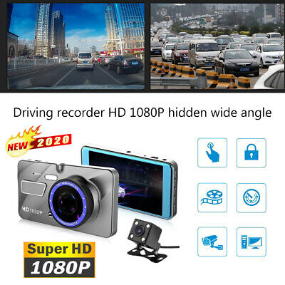 AU21.69 • Buy 1080P HD Car DVR Dual Lens Front And Rear Camera Dash Cam Video Recorder Vision