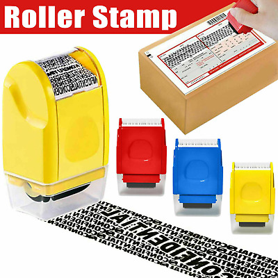 UK Roller Stamp Identity Privacy ID Confidential Guard Data Theft Protection • 4.88£
