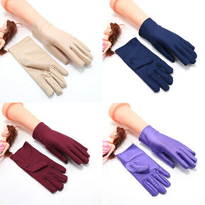 £2.95 • Buy Sunscreen Gloves Short Gloves Thin Summer Costumes Weddings Gloves CyclingGloves
