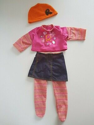 £6 • Buy Smoby Doll Rosie Roxy Cute Orange & Pink Outift, Includes Hat And Tights
