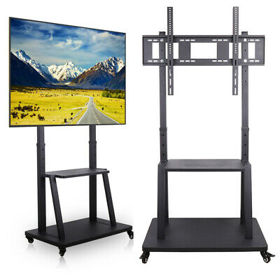 """£147.95 • Buy Large Mobile TV Floor Stand Trolley Cart Exhibition Meeting Display Fr 70''-100"""""""