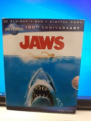 Jaws (Blu-ray+ DVD, 2012) 2-Disc Set US Import. With Slip Cover • 14.99£