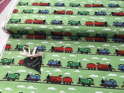 £9.99 • Buy Thomas The Tank Engine Green Train Track Quilting 100% Cotton - Metre