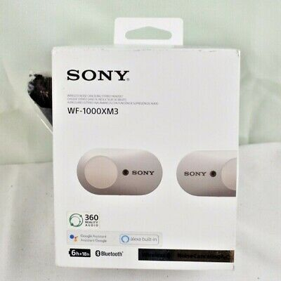$ CDN120.53 • Buy Sony WF-1000XM3 Wireless Noise Cancelling Headphones Bluetooth Silver Ships Fast
