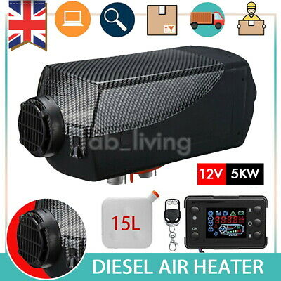 15L 5KW 12V Air Diesel Heater LCD Monitor Remote Motorhome Boats Car Bus UK • 80.99£
