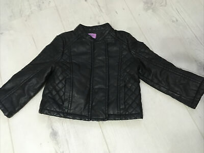 Baby Girl Leather Jacket 9-12Months F&F • 2£