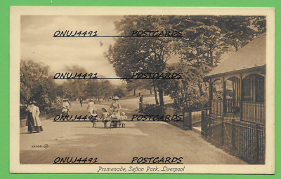 £3 • Buy The Promenade, Sefton Park, Liverpool. Early 1900s Card.