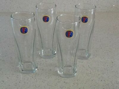 New 4 Fosters Pint Lager Beer Bar Pint Glasses Set Of Four Pub Bar • 5£