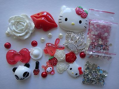 Deco Den Kit Red Hello Kitty Silver Crown Iphone Case 4375 • 12.18£