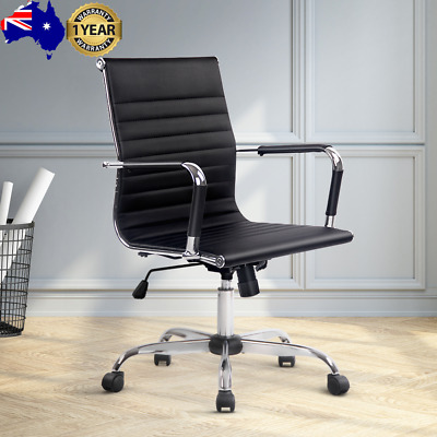 AU107.05 • Buy Artiss Gaming Office Chair Computer Desk Chairs Home Work Study Black Mid Back