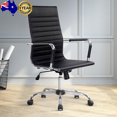 AU107.05 • Buy Artiss Gaming Office Chair Computer Desk Chairs Home Work Study Black High Back