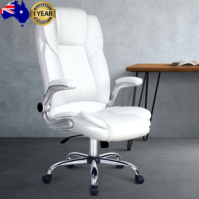 AU149.87 • Buy PU Leather Executive Office Desk Chair - White