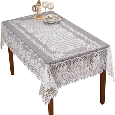 AU29.99 • Buy Vintage Lace Tablecloth Dining Table Cloth Cover Wedding Party Floral 152x228cm
