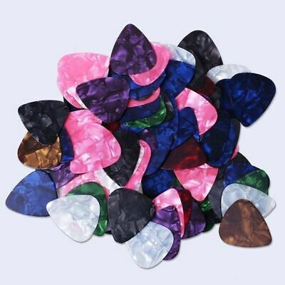 $ CDN6.24 • Buy 100pcs Guitar Picks Acoustic Electric Plectrums Celluloid Assorted Colors