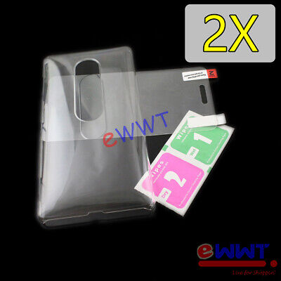 AU3.66 • Buy 2x Clear Crystal Cover Hard Case +Glass For Sony Xperia XZ2 Premium 5.8  ZHCF859