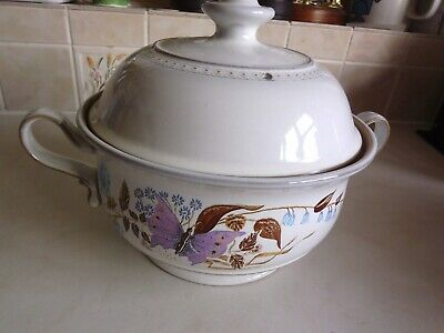 Denby Pottery Casserole/vegetable Dish With Lid. Lorraine Pattern 1970-1980's • 6£
