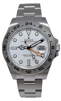 $ CDN13892.27 • Buy Rolex Explorer II Stainless Steel White Dial Mens 42mm Watch B/P '15 216570