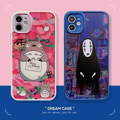 Cartoon Totoro And No Face Man TPU Case Cover For IPhone 7 8 Xs XR 11 12 Pro Max • 3.65£