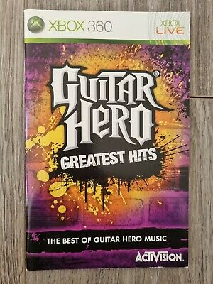 £1.25 • Buy Guitar Hero Greatest Hits Xbox 360 Inserts Cover, Inlay