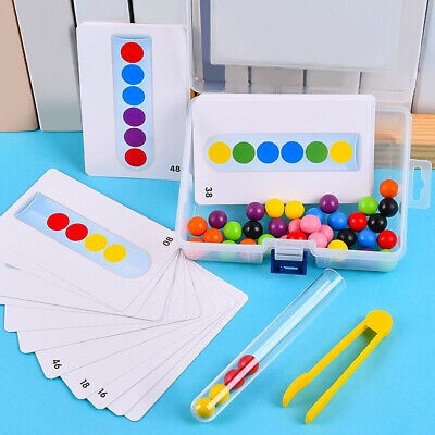 AU13.42 • Buy Wooden Counting Bead Montessori Color Matching Sorting Educational Fun Toys