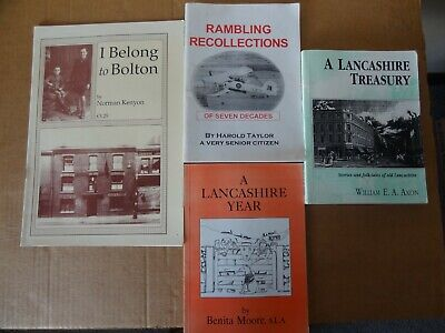 4 Books  About Lancashire And Bolton - Biographical,  Stories And Folk Tails • 5.99£