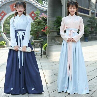 $ CDN38.08 • Buy Chinese Traditional Hanfu Cosplay Costume Han Dynasty Stduent Stage Show Dress