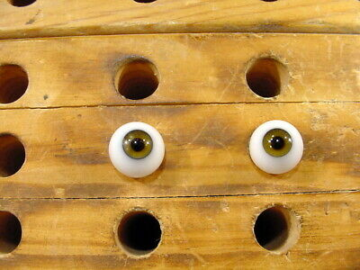 £10 • Buy A Pair Vintage Glass Eyes Size 12 Mm Age 1910 For Dolls Or Bears Lauscha A 6260