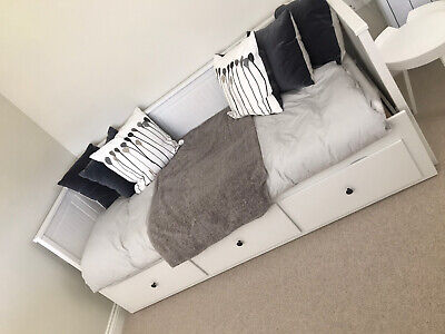 Ikea Hemnes White Day Bed Daybed With 3 Drawers • 100.87£