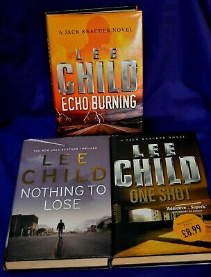 3 X LEE CHILD / JACK REACHER Hardback Books With Dustcovers.  ALL 1st EDITIONS • 6.80£