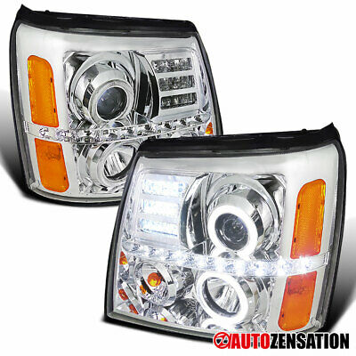 $217.99 • Buy For 2002-2006 Cadillac Escalade Clear Halo Projector Headlights+LED Left+Right