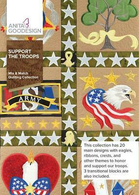 $13.99 • Buy Support The Troops Anita Goodesign Embroidery Machine Design CD NEW