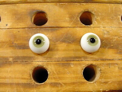 £10 • Buy A Pair Vintage Glass Eyes Size 12 Mm Age 1910 For Dolls Or Bears Lauscha A 6263