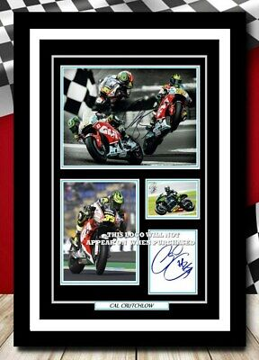 (500) Cal Crutchlow  Superbikes Signed A4 Photo/framed/unframed (reprint) @@@ • 14.99£