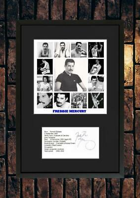 £15.90 • Buy (#245)  Freddie Mercury Signed A4 Photo//framed (pp) Great Gift @@@@@@@@@@@@@@@@