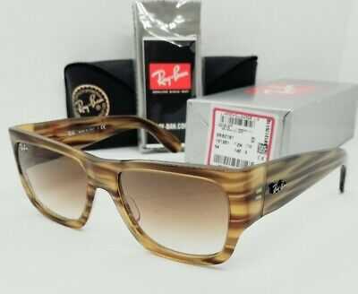 AU116.24 • Buy RAY BAN Striped Brown Gradient  NOMAD  RB2187 131351 54 Sunglasses! NEW IN BOX!