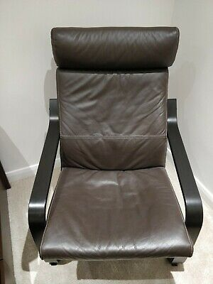 Ikea Brown Leather Armchair  • 50£