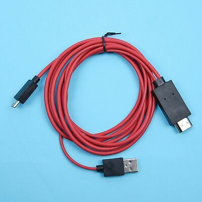 $ CDN13.58 • Buy 1.8m Android Phone Mhl Micro Usb To Hdmi Cable Hd Tv Monitor Projector Adapter~