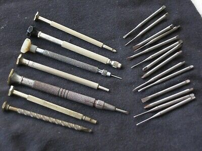 $ CDN45.61 • Buy Vintage Lot Jewelers Screwdrivers & Replacement Bits -Watchmakers Watch Tools