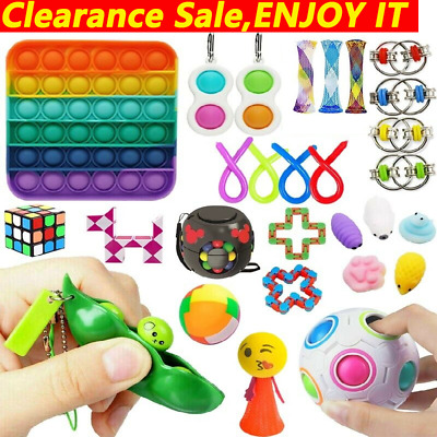 AU42.99 • Buy Fidget Toys Set Sensory Tools Bundle Stress Relief Hand Kids Adult ADHD Toy Gift