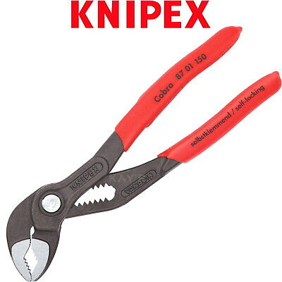 £23.90 • Buy Knipex Water Pump Pliers 150mm 6in Cobra Push Button Wrench PVC Grips 87 01 150