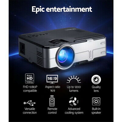 AU165.62 • Buy Devanti Mini Video Projector Portable HD 1080P 1200 Lumens Home HDMI USB VGA