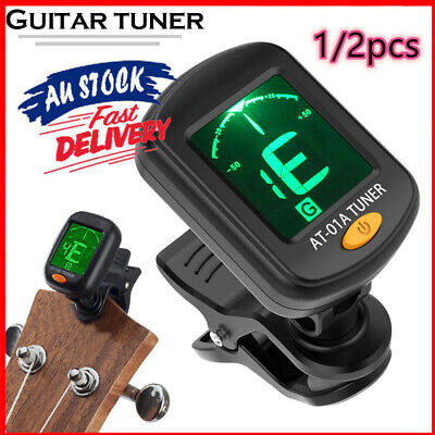 AU10.49 • Buy Clip-on Electronic Digital Guitar Tuner For Chromatic Violin Pickers LCD Display